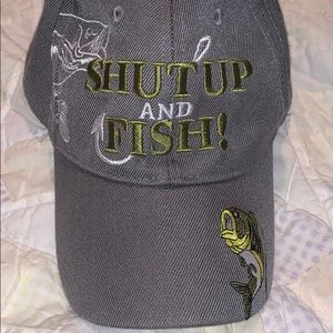 Other - Shut up and Fish rugged cap